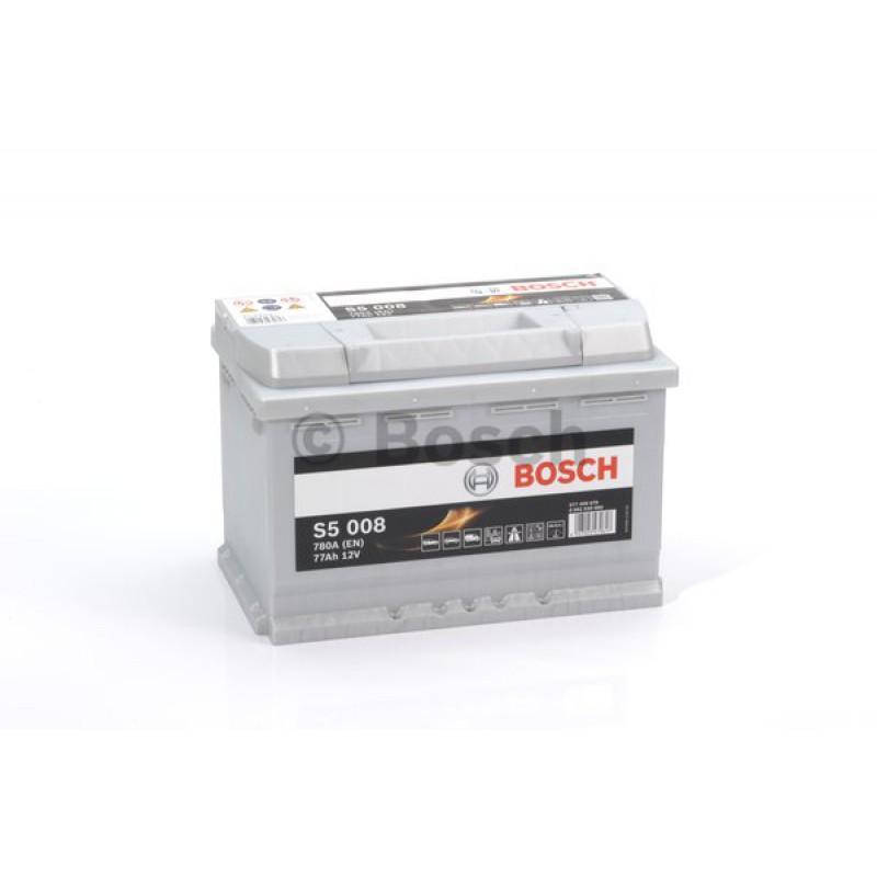BOSCH S5 Silver 77Ah 780A jobb+